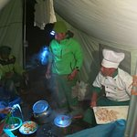 Leonardo and his team preparing another delicious meal!