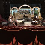 "View of stage from last row, set for ""You Can't Take It With You"""