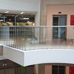 Spiral stairs to shops
