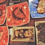 Tataki de Atum e Salmão, Carpaccio de Salmão e Peixe Branco, Anchova Negra e Shitake