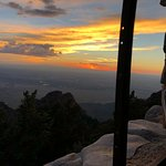 Albuquerque sunset from the Stone Cabin atop Sandia Skyway