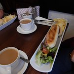 A long lunch at the Hathaway Tea rooms, Stratford-upon-Avon.