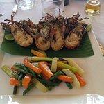 aragostine alla griglia con verdure