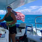 Best female captain ever!! Great snorkeling in Marathon in a spacious comfortable catamaran with