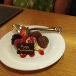 My Parent's Happy Anniversary Dessert.