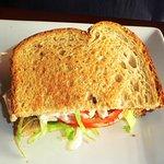 half shrimp salad sandwich