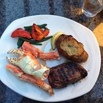 Top sirloin with King crab.