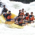 One of the bigger rapids on the trip. So fun!