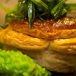 Xin-Jiang-lamb-pie,-smashed-broad-bean-puree,-Sichuan-gravy