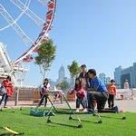 Children event at the wheel