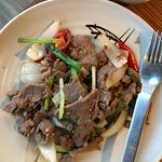 Stir-fried local beef with Lemongrass and Chili
