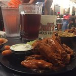 Medium-Hot Wings paired with Yuenglings on tap.