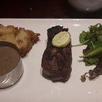 Fillet steak, porcini mushroom & black garlic sauce