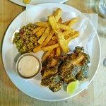 Vegan fish & chips, no flavour