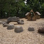 MA - BROOKLINE - COREY HILL PARK - PLAYGROUND #3 - ARTIFICIAL ROCKS