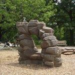 MA - BROOKLINE - COREY HILL PARK - PLAYGROUND #4 - ARTIFICIAL ROCKS FOR CLIMBING