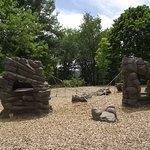 MA - BROOKLINE - COREY HILL PARK - PLAYGROUND #5 - MORE ARTIFICIAL ROCKS FOR CLIMBIN