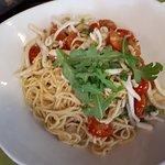 spaghettis aux calamars.