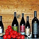 Assorted wines.