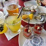 Oyster Shooters like nowhere else! Try the spicy vodka ones!