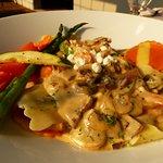 Butternut squash and mushroom ravioli