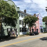 Classic Rainbow Row, you'll learn how and why the houses are painted that way.