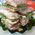 Ciabatta bun sandwiches are available all day everyday