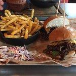 Pulled short rib burger