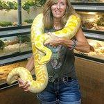 Me holding a 50lb Python