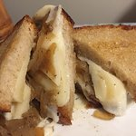 French onion grilled cheese on rye