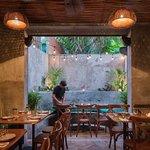 Garden dining room.