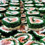 Smoked Salmon Roulade for catering events