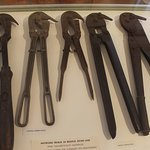 Exhibition - tools to cut barbed wire in WWI