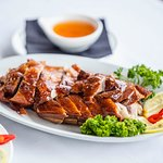 Roast Duck with a side of Plum sauce