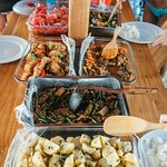 Delicious freshly cooked food onboard our day trip boat