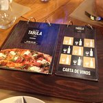 Carta de la Pizzería.