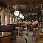 Interior of Old Compton Brasserie