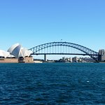 Los dos iconos de la ciudad desde Mrs Macquarie's Chair & Point