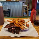 Dinner with Local Wine, BBQ Sauce and Catsup