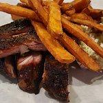 Pork Ribs, Sweet Potato Fries and Coleslaw