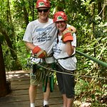 Ziplining on our 30th Anniversary - So Much Fun!