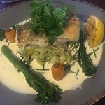 Sea Bass at The Lower New Inn