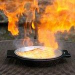 Flame on! Tableside saganaki