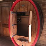 Fabulous closet made from a wine cask