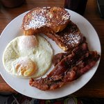 Pane d'amore French Toast with over easy eggs
