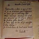 Brief van koningin Elisabeth aan koning Albert.