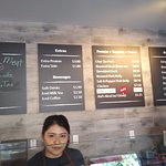 Menu board at Cross Roast on Magnolia Street in west Anaheim, CA
