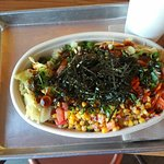 Shredded duck bowl served at Cross Roast on Magnolia Street in west Anaheim, CA