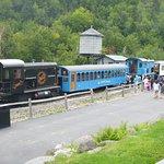 montée avec train diesel ou à vapeur