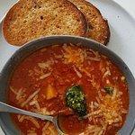 Sumptuous tomato soup
